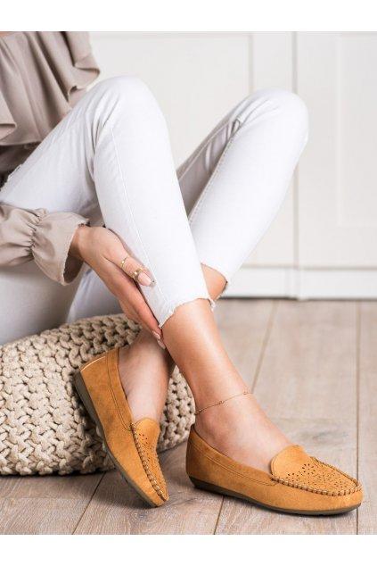 Hnedé dámske mokasíny Best shoes kod 1R6C