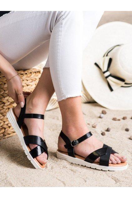 Čierne dámske sandále Seastar kod SL1007B