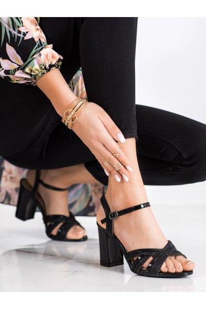 Čierne dámske sandále Trendi kod 20SD25-2090B