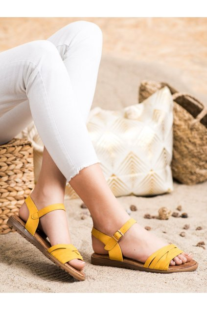 Žlté dámske sandále Evento kod 20SD14-2065Y