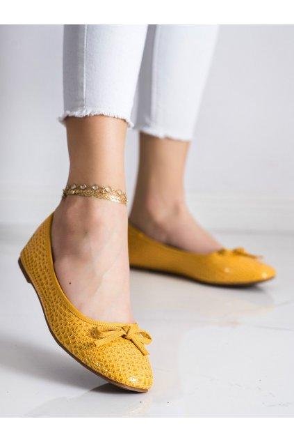 Žlté dámske balerínky Goodin kod GD-OD-92Y