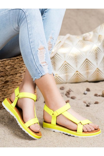 Žlté dámske sandále Trendi kod WS9027Y