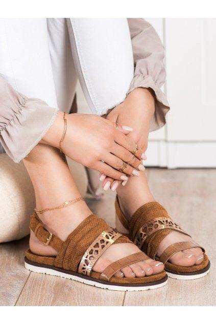 Hnedé dámske sandále Evento kod 21SD35-3570C