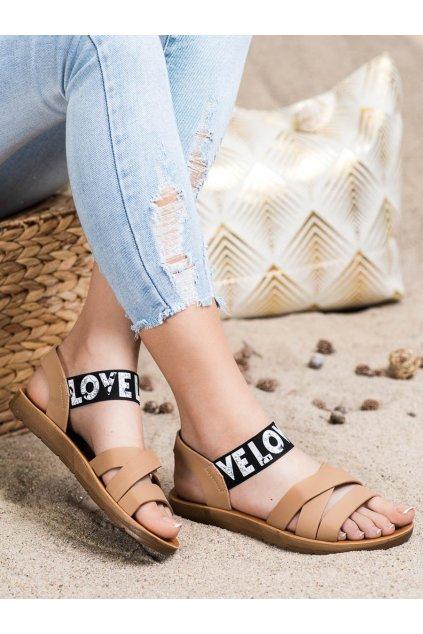 Hnedé dámske sandále Trendi kod E1503KH