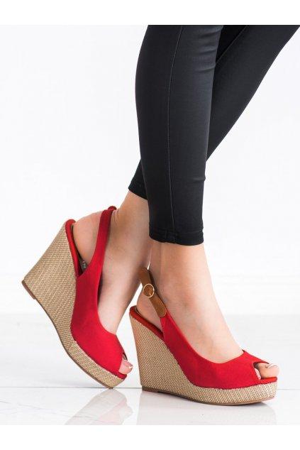 Červené dámske sandále Goodin kod GD-NF-05R
