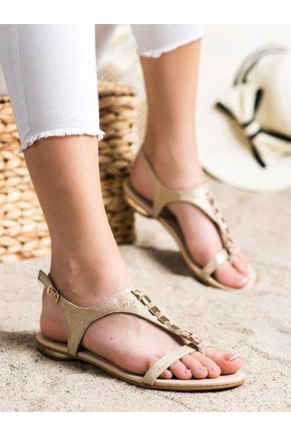 Žlté dámske sandále Vinceza kod YQE21-17128GO
