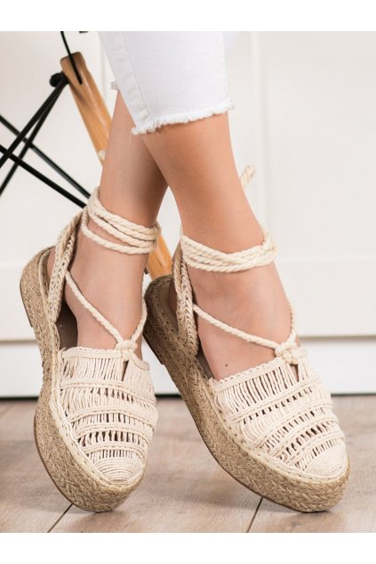 Hnedé dámske sandále Small swan kod OM5460BE