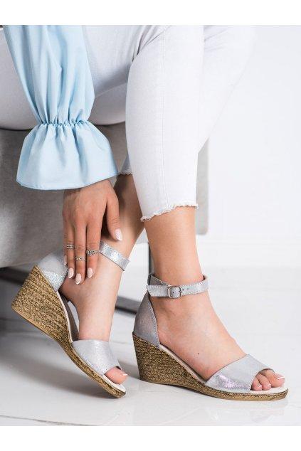 Sivé dámske sandále Filippo kod DS2137/21S