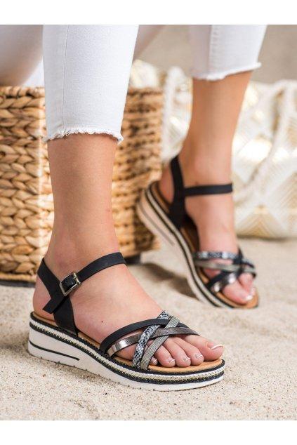 Čierne dámske sandále Groto gogo kod G245B