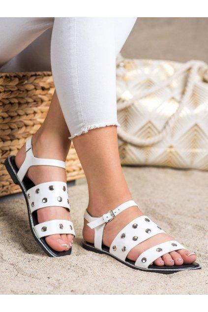 Biele dámske sandále Goodin kod GD-YQ-85W