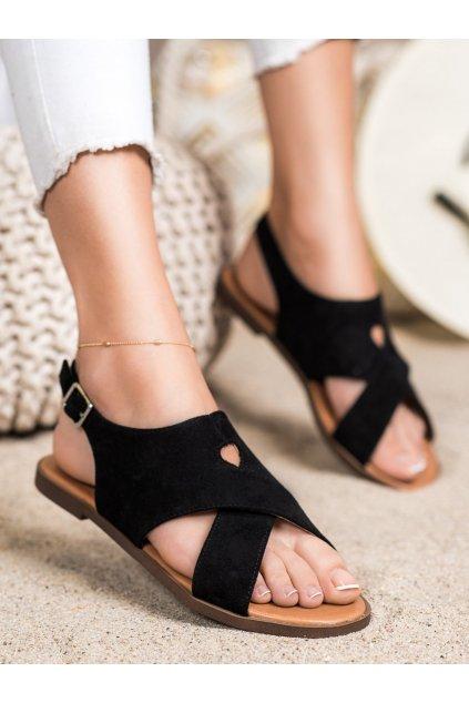 Čierne dámske sandále Sergio leone kod SK060B/