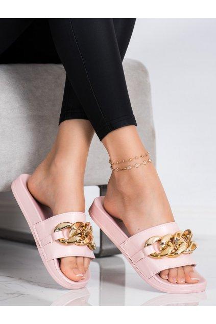 Ružové dámske šľapky Trendi kod WS2101P