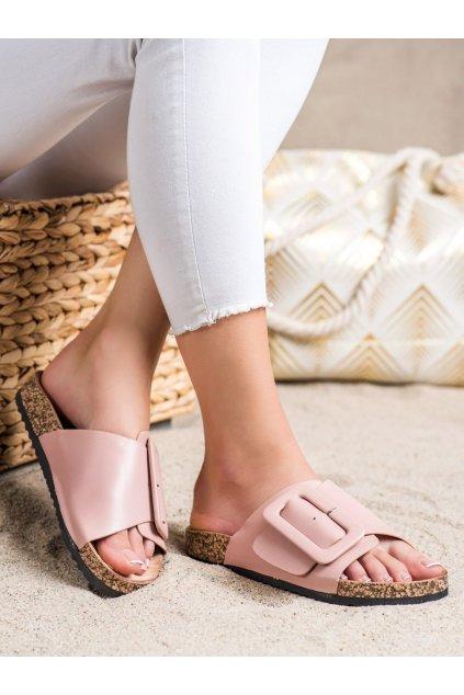 Ružové dámske šľapky Trendi kod TZ22P