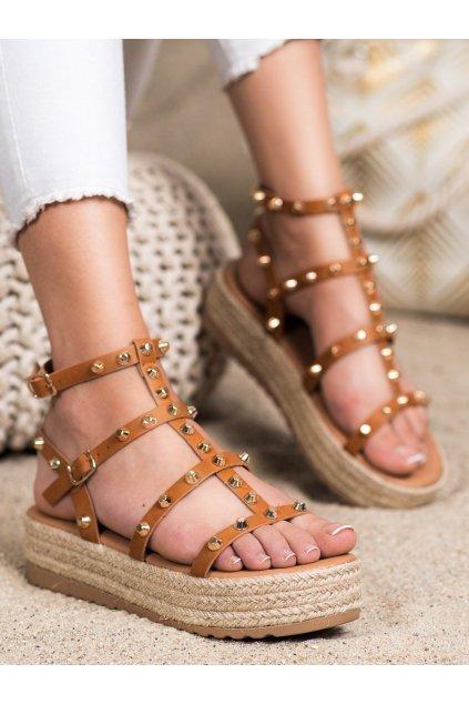 Hnedé dámske sandále Seastar kod ME01C
