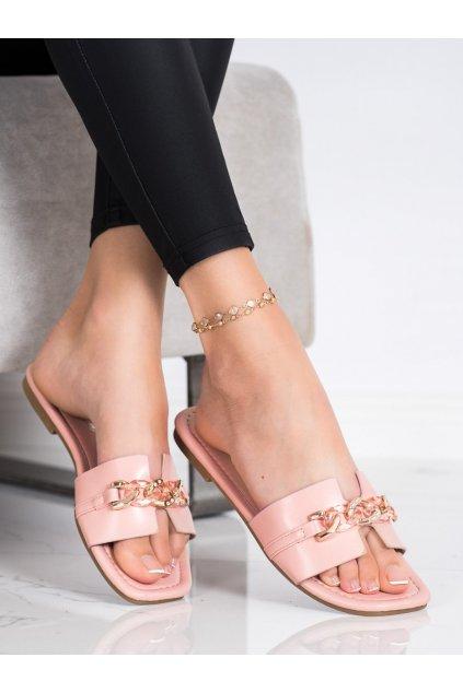 Ružové dámske šľapky Renda kod 35-230P