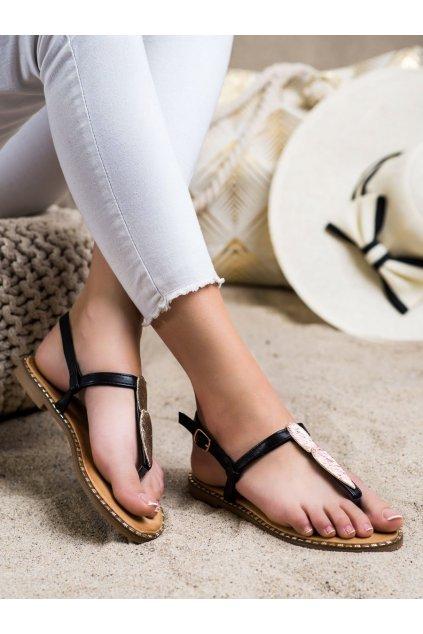 Čierne dámske sandále Seastar kod CK163B