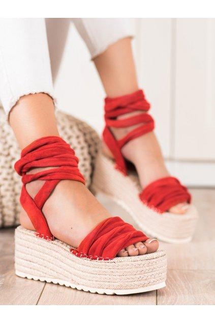 Červené dámske sandále Seastar kod M312-R