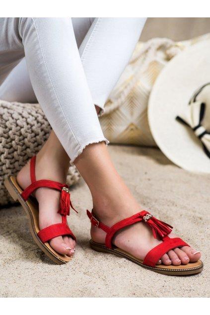 Červené dámske sandále Groto gogo kod G-5031R