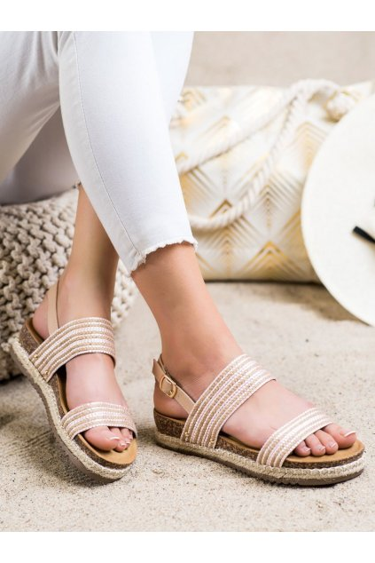 Ružové dámske sandále Trendi kod FD-50P