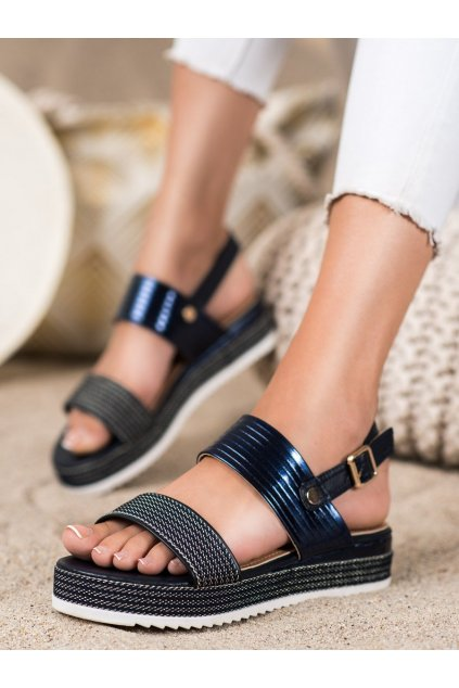 Fialové dámske sandále Trendi kod YQ16BL