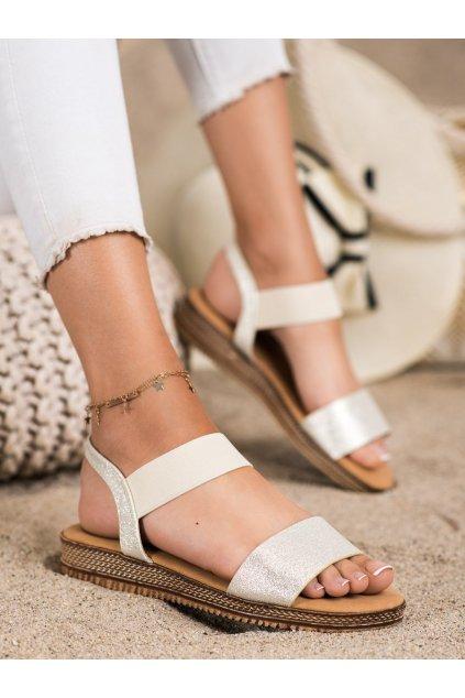 Žlté dámske sandále Queentina kod BH2612GO