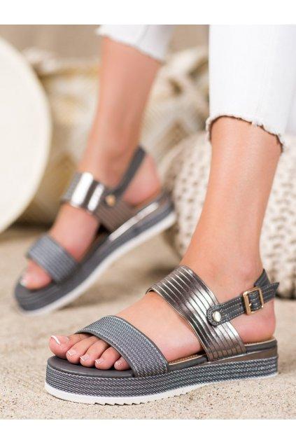 Sivé dámske sandále Trendi kod YQ16G