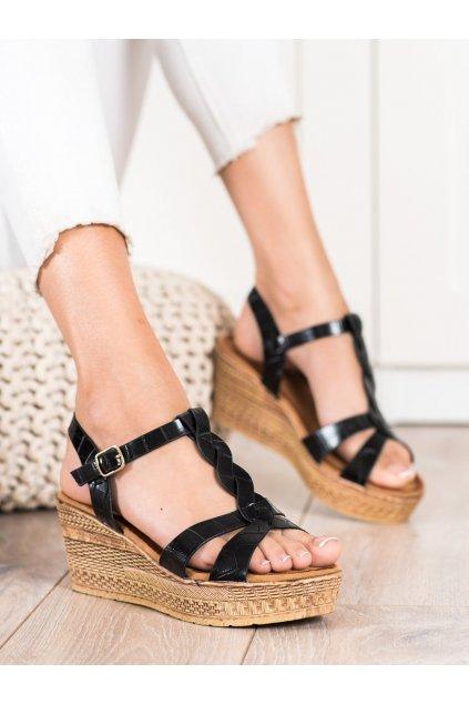 Čierne dámske sandále Queentina kod BH2605B