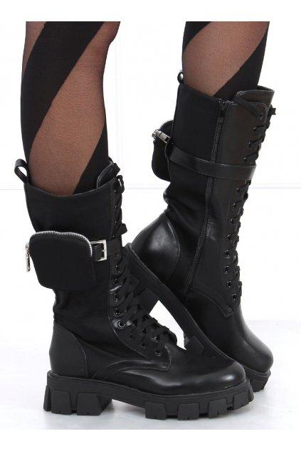 Dámske čižmy mušketierky čierne 1995