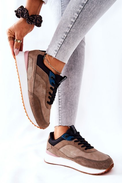 Dámske tenisky farba čierna kód obuvi II274407 BROWN/BLK