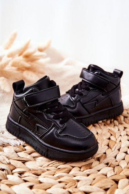 Detské tenisky farba čierna kód obuvi 101-2A/3A BLK