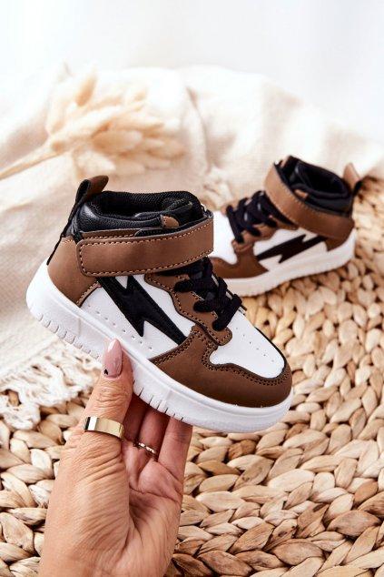 Detské tenisky farba čierna kód obuvi 101-2F/3F BRW