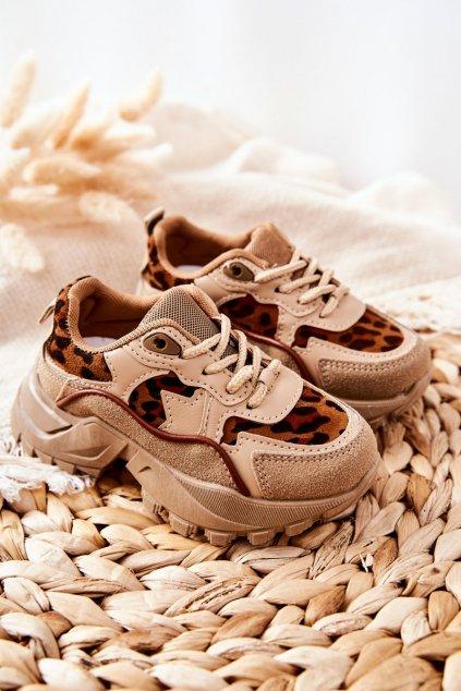 Detské tenisky farba čierna kód obuvi 816-2B/3B BEIGE