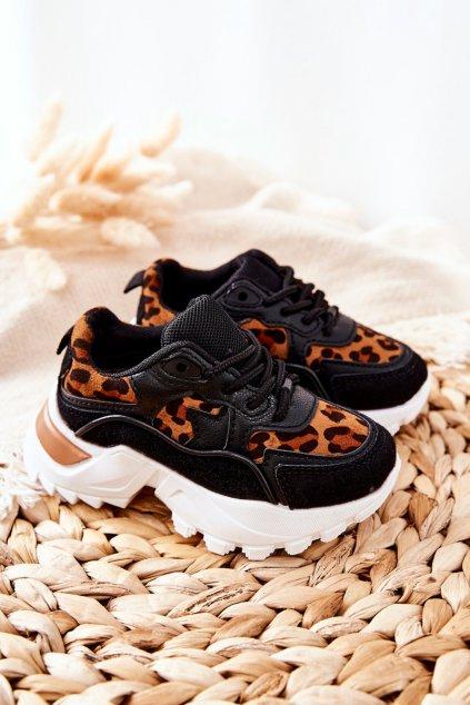Detské tenisky farba čierna kód obuvi 816-2A/3A BLK