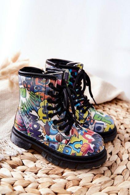 Detské členkové topánky farba viacfarebná kód obuvi 20324-1A/2A BLUE