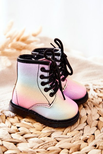 Detské členkové topánky farba viacfarebná kód obuvi 20321-1A/2A/3A RAINBOW