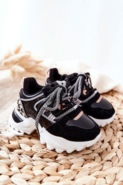 Detské tenisky farba čierna kód obuvi 813-2A/3A BLK