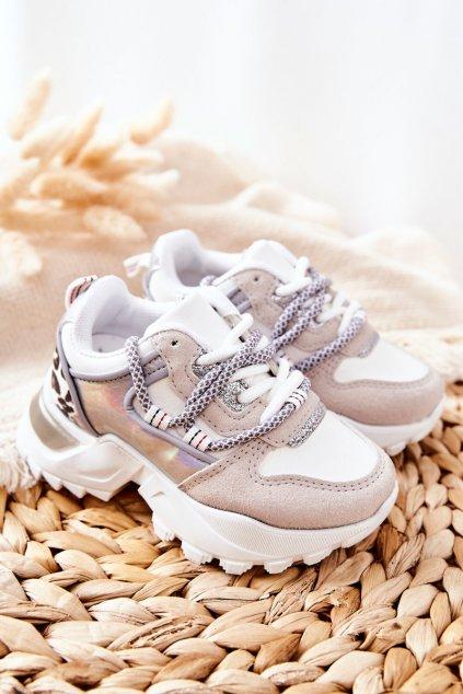 Detské tenisky farba biela kód obuvi 813-2C/3C WHT