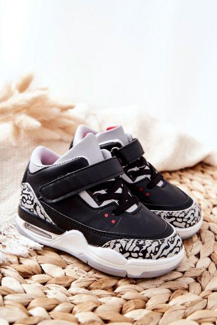 Detské tenisky farba čierna kód obuvi 105-2A/3A BLK/RED