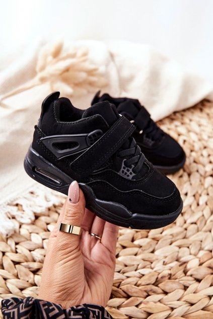 Detské tenisky farba čierna kód obuvi 104-2A/3A BLK