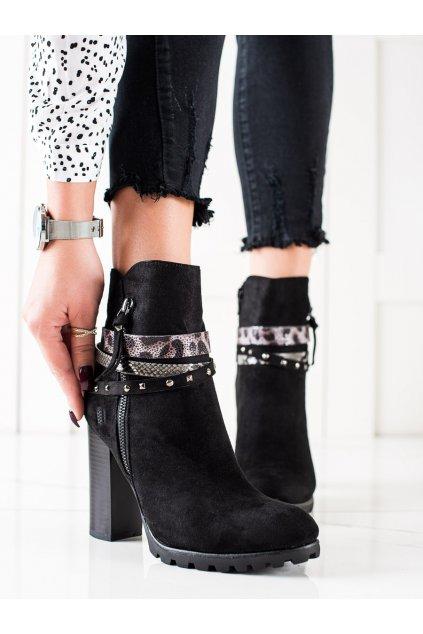Čierne dámske topánky Trendi kod Z1128B