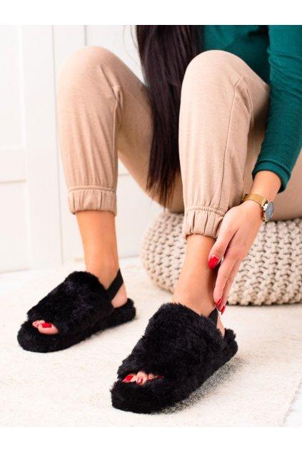 Čierne dámske topánky na doma Trendi kod N-91B