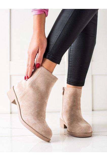 Hnedé dámske topánky Mannika kod 6215KH