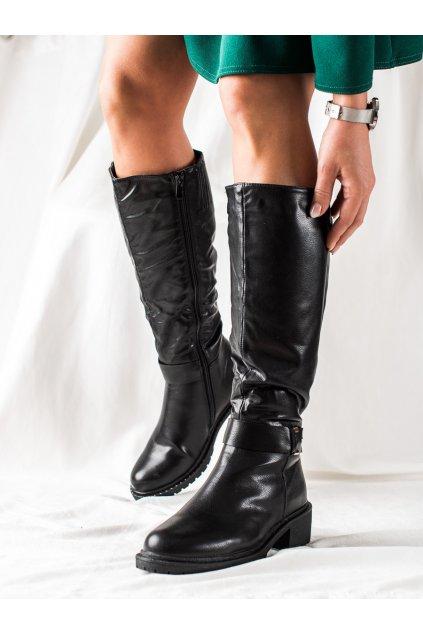 Čierne dámske čižmy Trendi kod Q200-7B