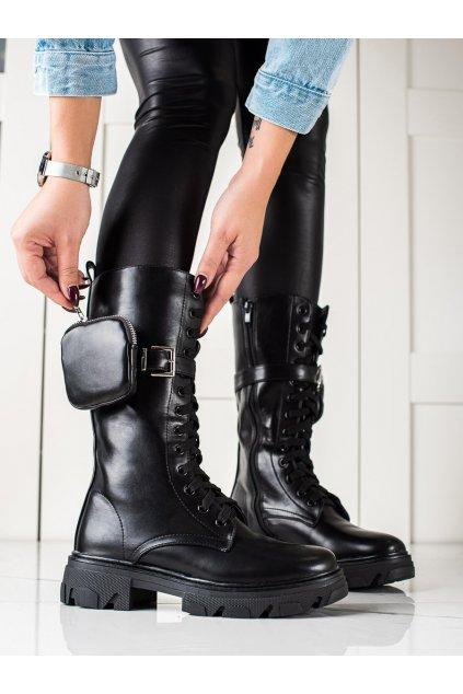 Čierne dámske topánky Trendi kod 7702B
