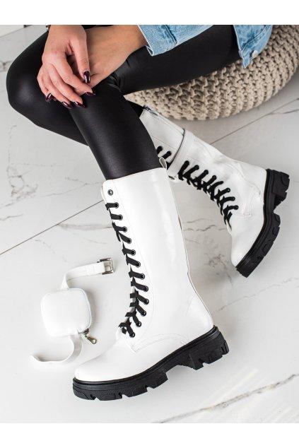 Biele dámske topánky Trendi kod 7702W