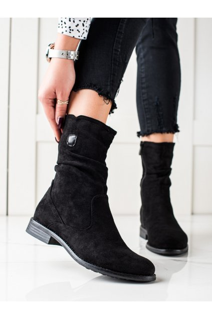 Čierne dámske topánky W. potocki kod SZ21-11003B