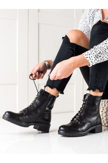 Čierne dámske topánky W. potocki kod RE21-11017B