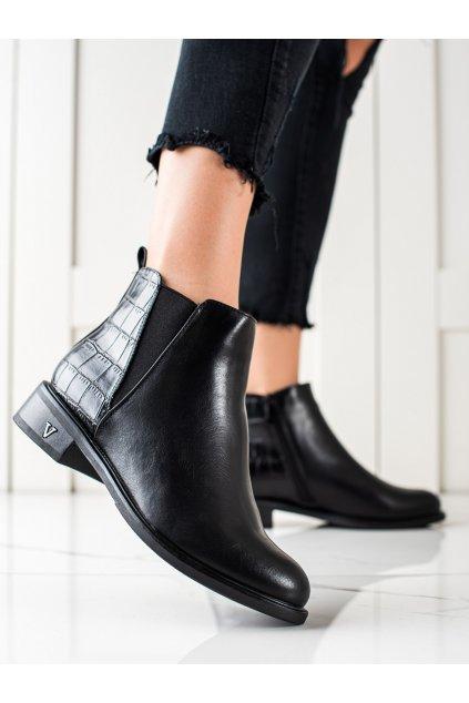 Čierne dámske topánky W. potocki kod RE21-11007B