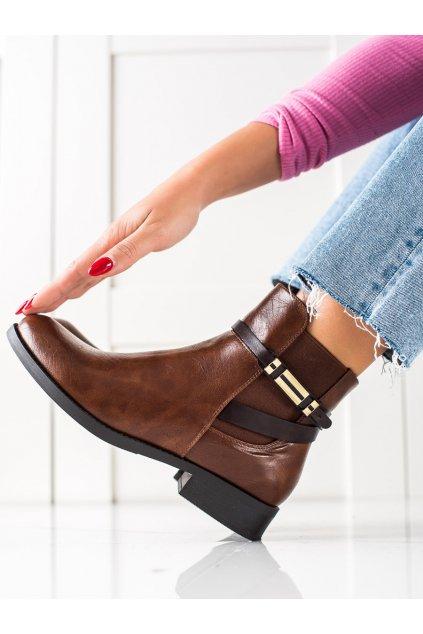 Hnedé dámske topánky W. potocki kod RE21-11006BR