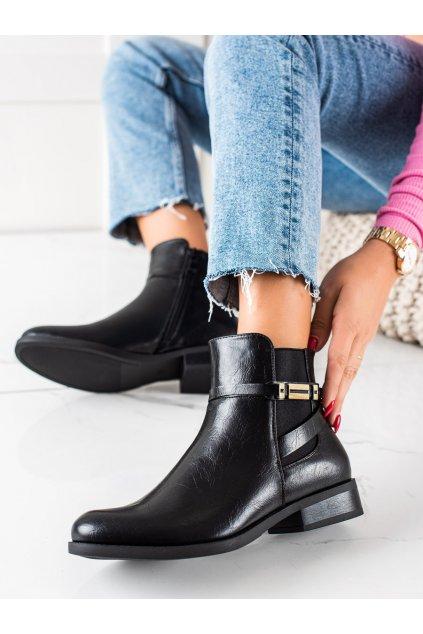 Čierne dámske topánky W. potocki kod RE21-11006B